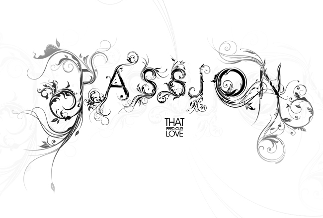 passion typography