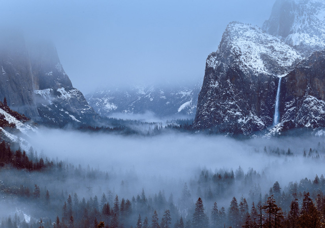 Foggy Valley by Evgeny Tchebotare