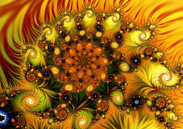 spiral fractal wallpaper