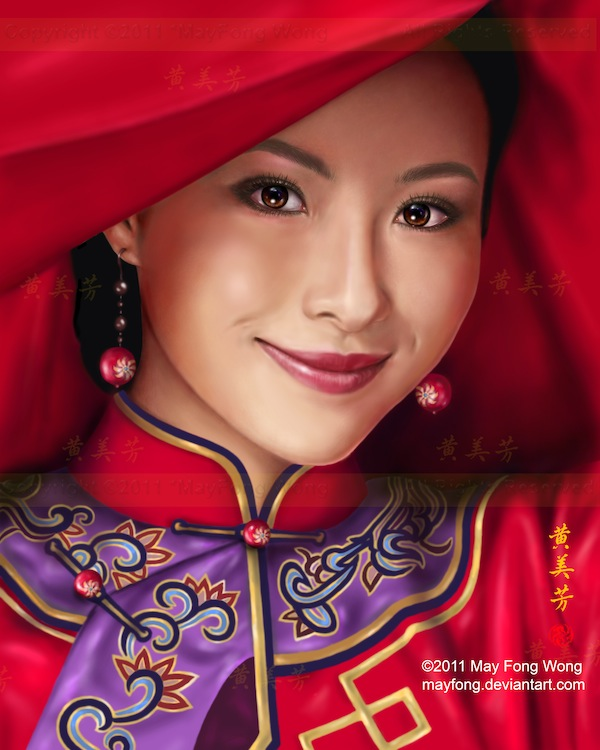 Stunning Digital painting of May Fong Robinson