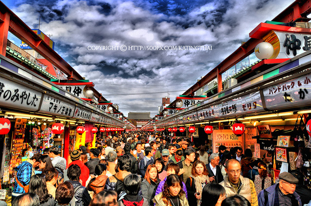 people crowd in market