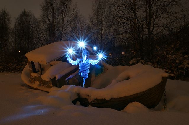 Light painting of janne parviainen