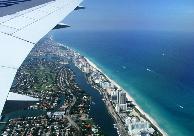 miami beach arial view