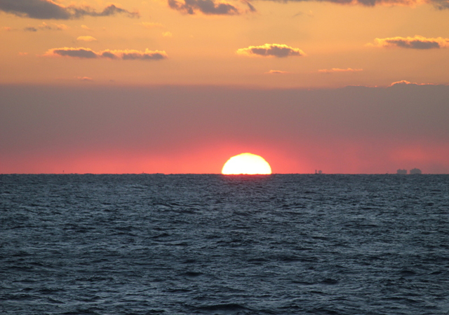 sunset view of Miami beach by naveen sharma