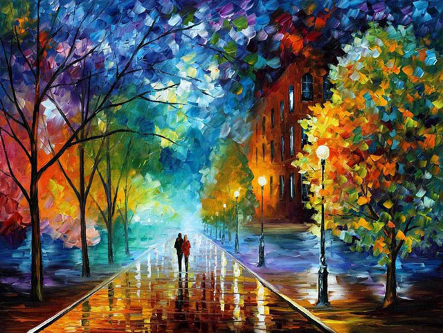 Beautiful-Oil-Paintings-by-Leonid-Afremov-using-palette-knife