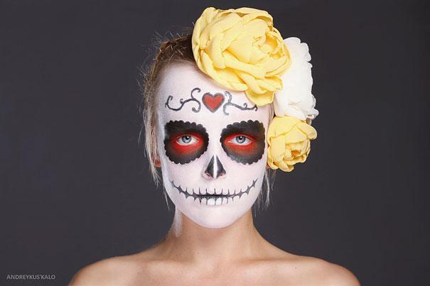 Stunning Photographs Dia De Los Muertos make up art