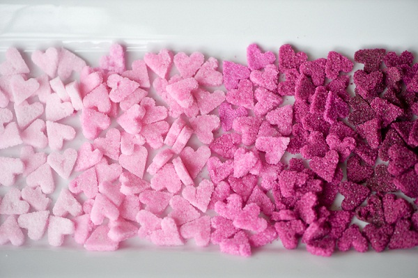 Ombre Sugar Hearts