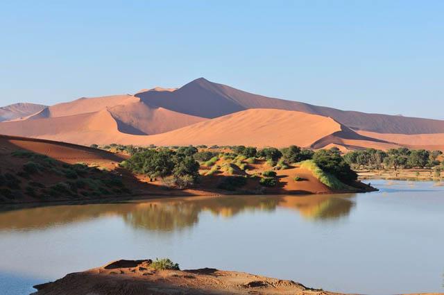 Sossusvlei in Namib desert Namibia
