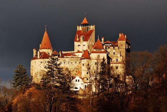 Dracula's home, Medieval Bran Castle In Brasov