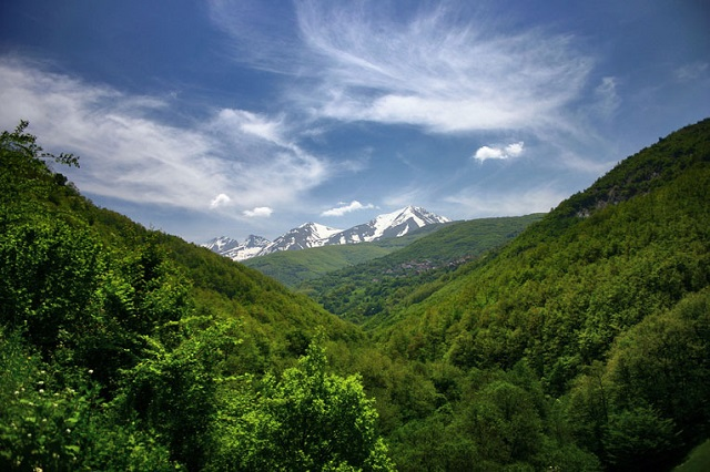 Sar Mountains in Serbia