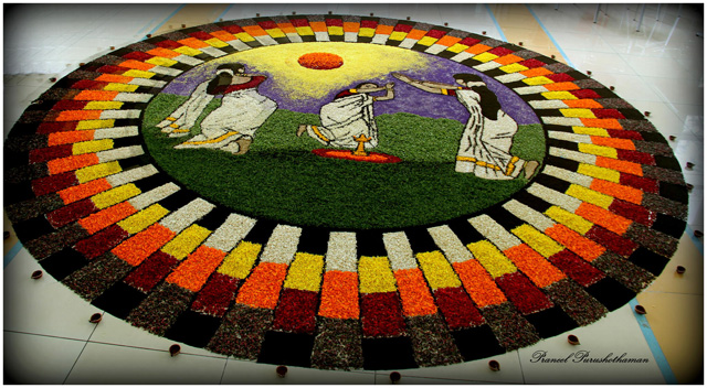 Pookkalam---Flower-Decoration-by-praneel