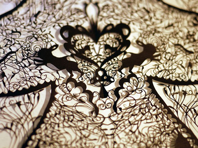 Incredible artwork Made With a Pair of Scissors