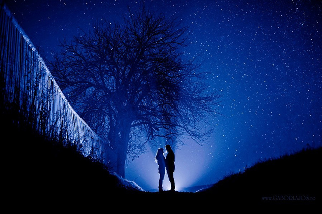 Love under the night sky by Gabor Lajo