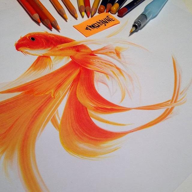 Creative Color Pencil art by Karla Mialynne