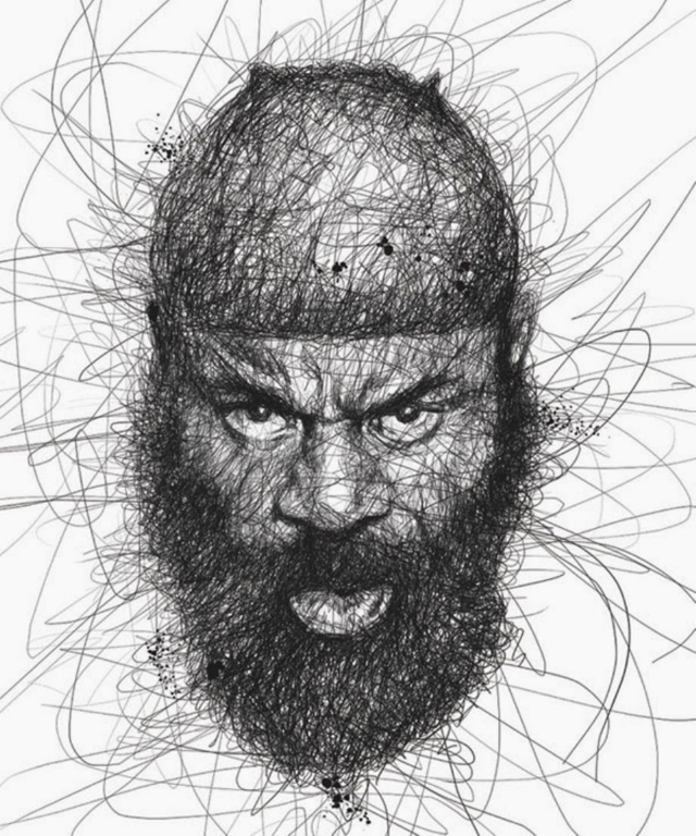 Scribbling Portraits by Vince Low