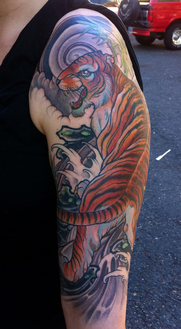 50 amazing tiger tattoos design incredible snaps for Hallowed ground tattoo
