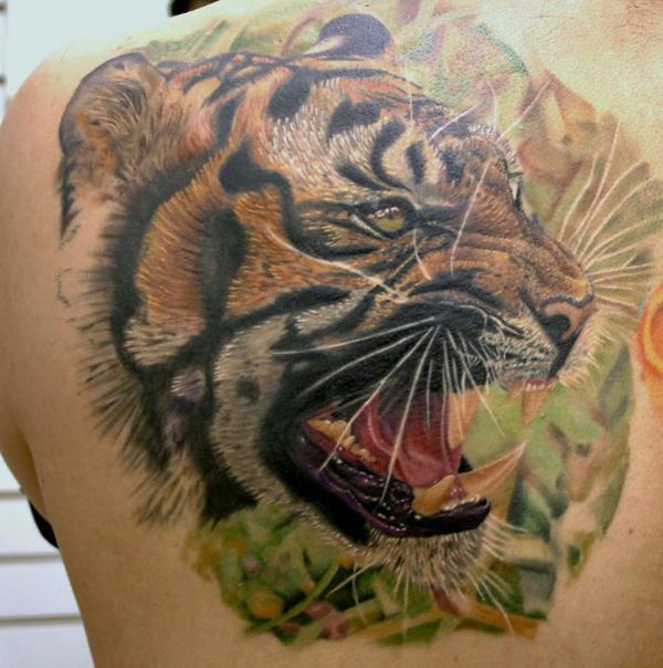 50 amazing tiger tattoos design incredible snaps. Black Bedroom Furniture Sets. Home Design Ideas
