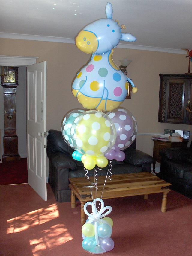 14 amazing baby shower balloon ideas from prasdnikov for Baby shower craft decoration ideas