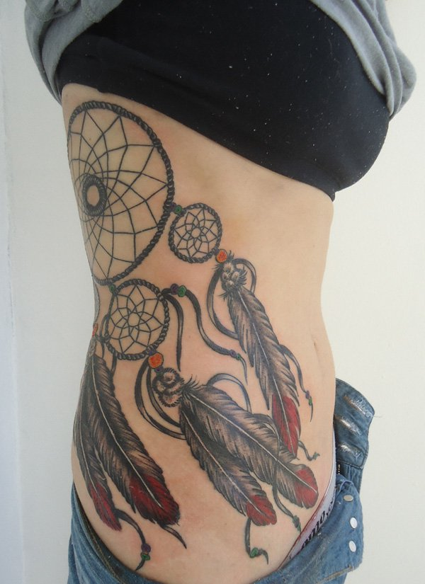 50 Beautiful Dream catcher Tattoo for Women (20)