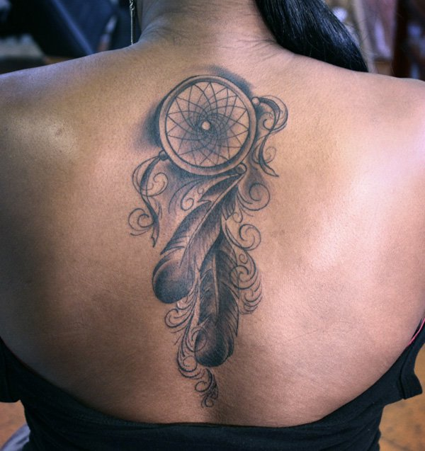 50 Beautiful Dream catcher Tattoo for Women (27)
