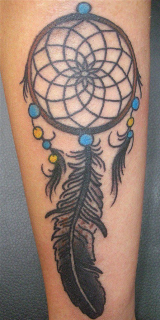 50 Beautiful Dream catcher Tattoo for Women (3)