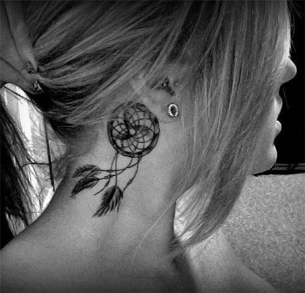 50 Beautiful Dream catcher Tattoo for Women (31)