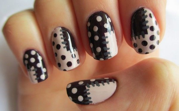55 creative black and white nail art examples (10)