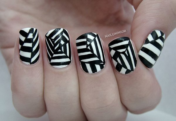 55 creative black and white nail art examples (11)