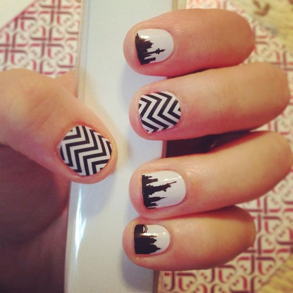 55 creative black and white nail art examples (12)