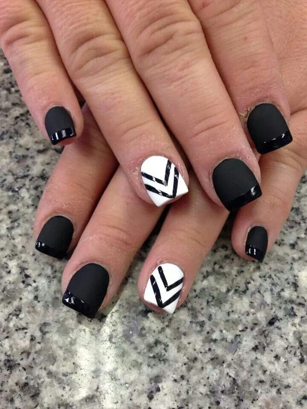 55 creative black and white nail art examples (13)