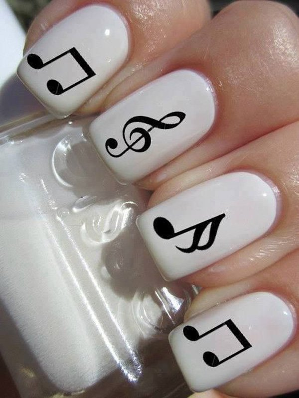 55 creative black and white nail art examples (14)