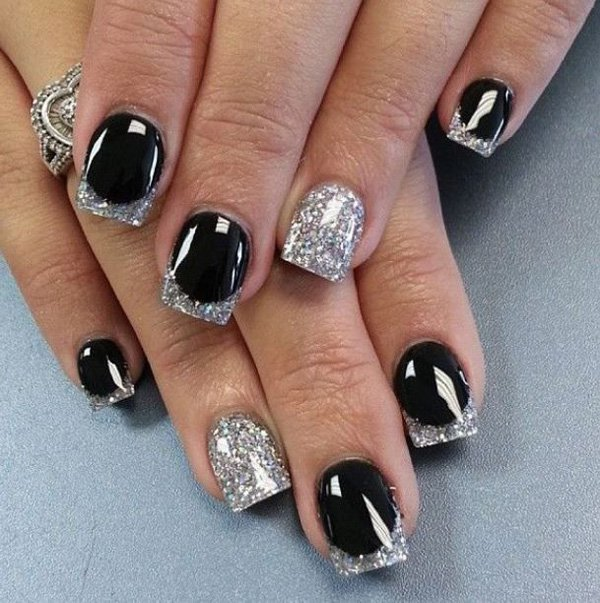55 creative black and white nail art examples (15)