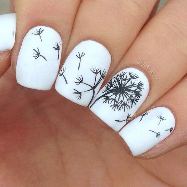 55 creative black and white nail art examples (17)