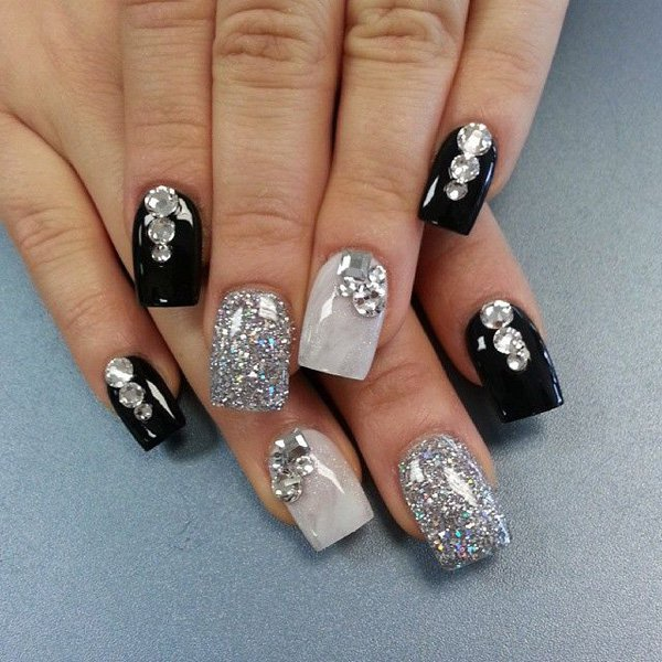 55 creative black and white nail art examples (18)