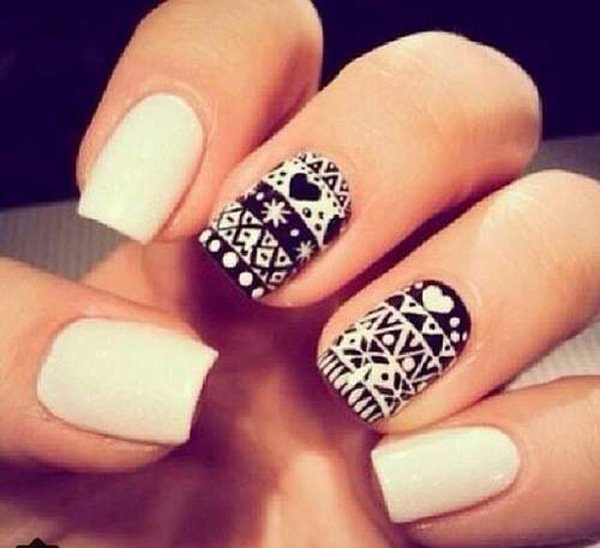55 creative black and white nail art examples (19)