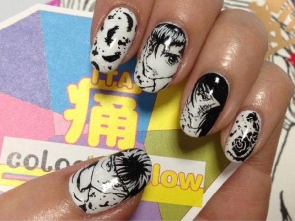 55 creative black and white nail art examples (2)