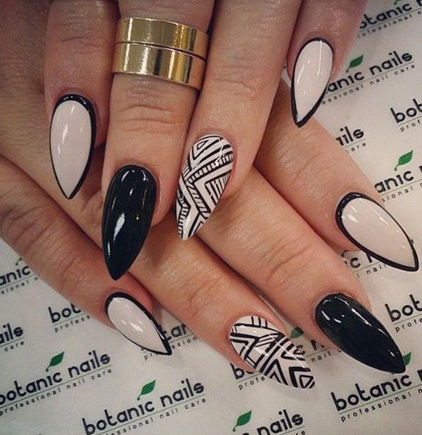 55 creative black and white nail art examples (20)