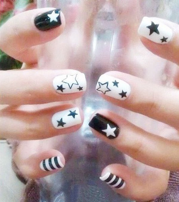 55 creative black and white nail art examples (21)
