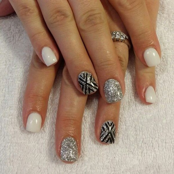 55 creative black and white nail art examples (22)