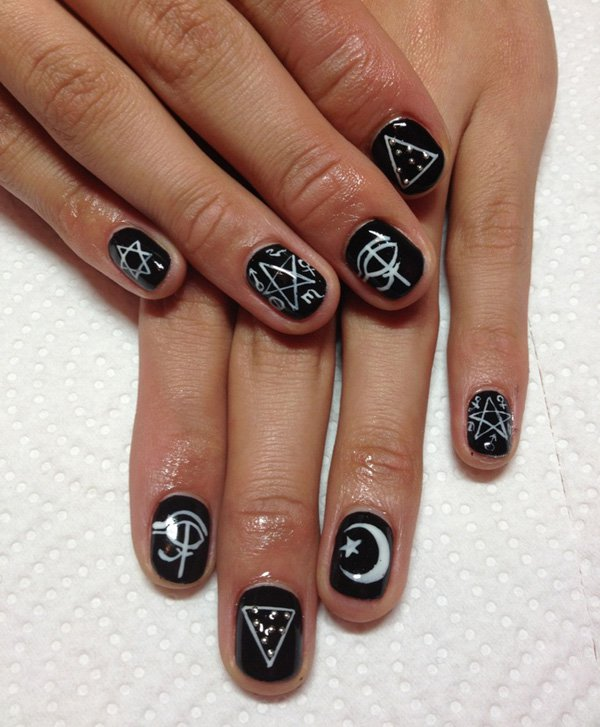 55 creative black and white nail art examples (23)