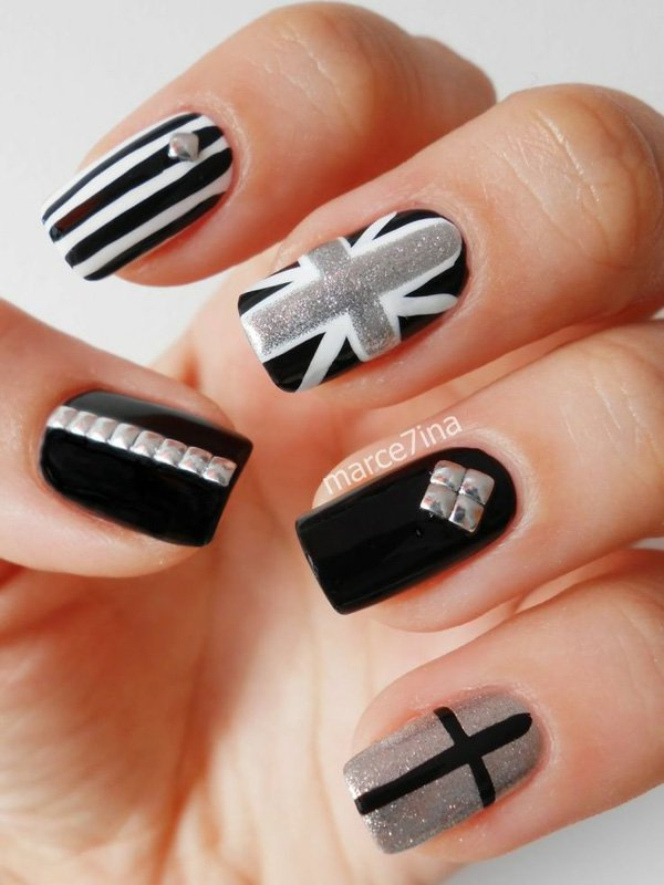 55 creative black and white nail art examples (24)