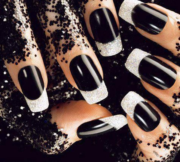 55 creative black and white nail art examples (25)
