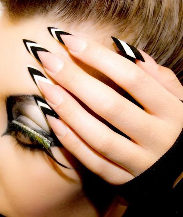 55 creative black and white nail art examples (26)