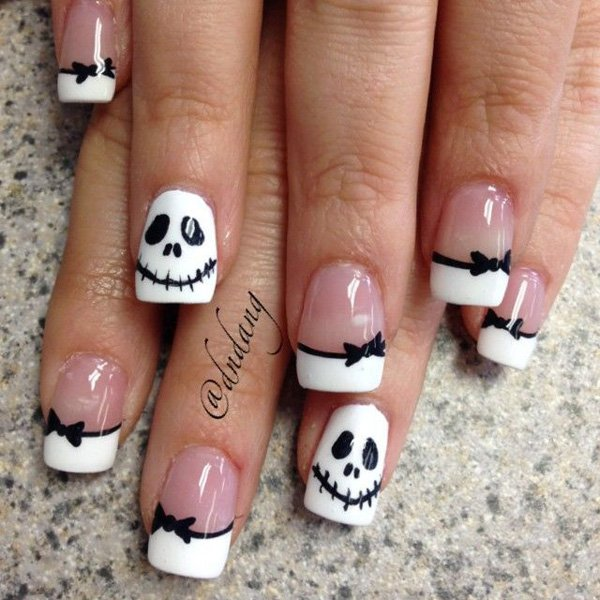 55 creative black and white nail art examples (28)