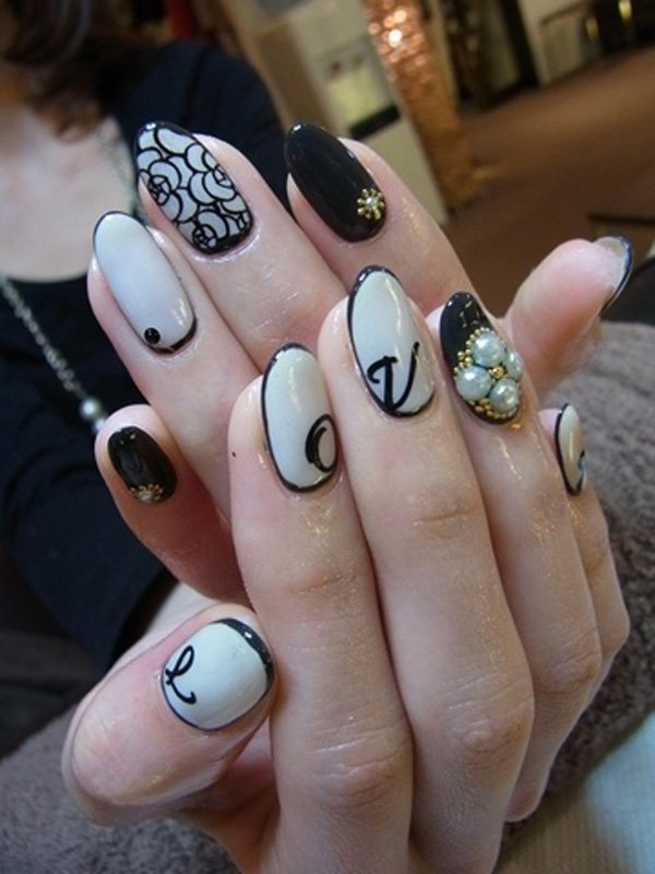 55 creative black and white nail art examples (29)