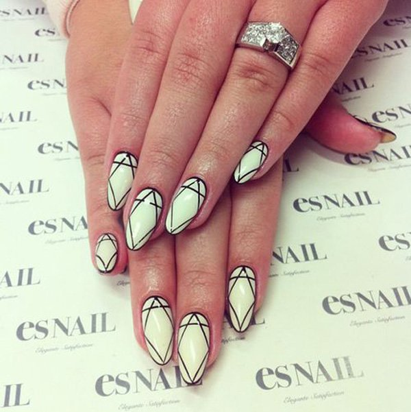 55 creative black and white nail art examples (3)
