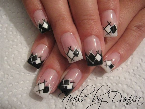 55 creative black and white nail art examples (30)