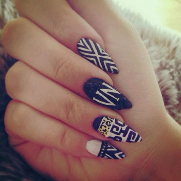 55 creative black and white nail art examples (33)