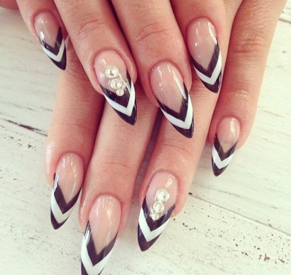 55 creative black and white nail art examples (36)