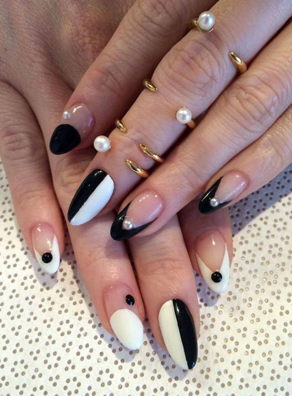 55 creative black and white nail art examples (37)